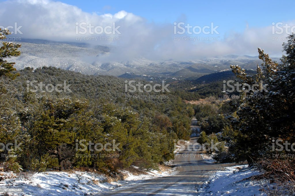 Early Morning View of Sandias stock photo