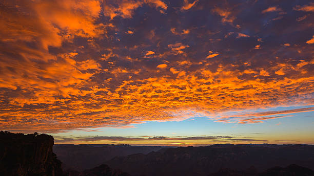 Early Morning View Over Copper Canyon - Mexico stock photo