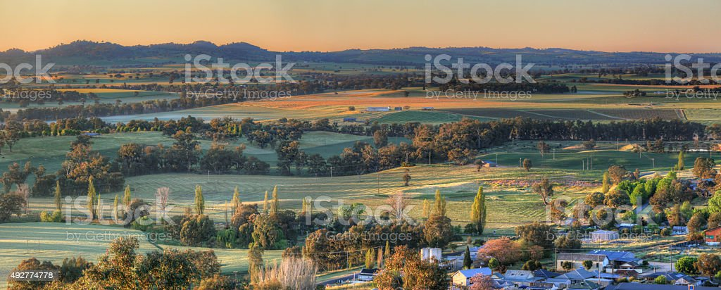 Early morning views Cowra stock photo