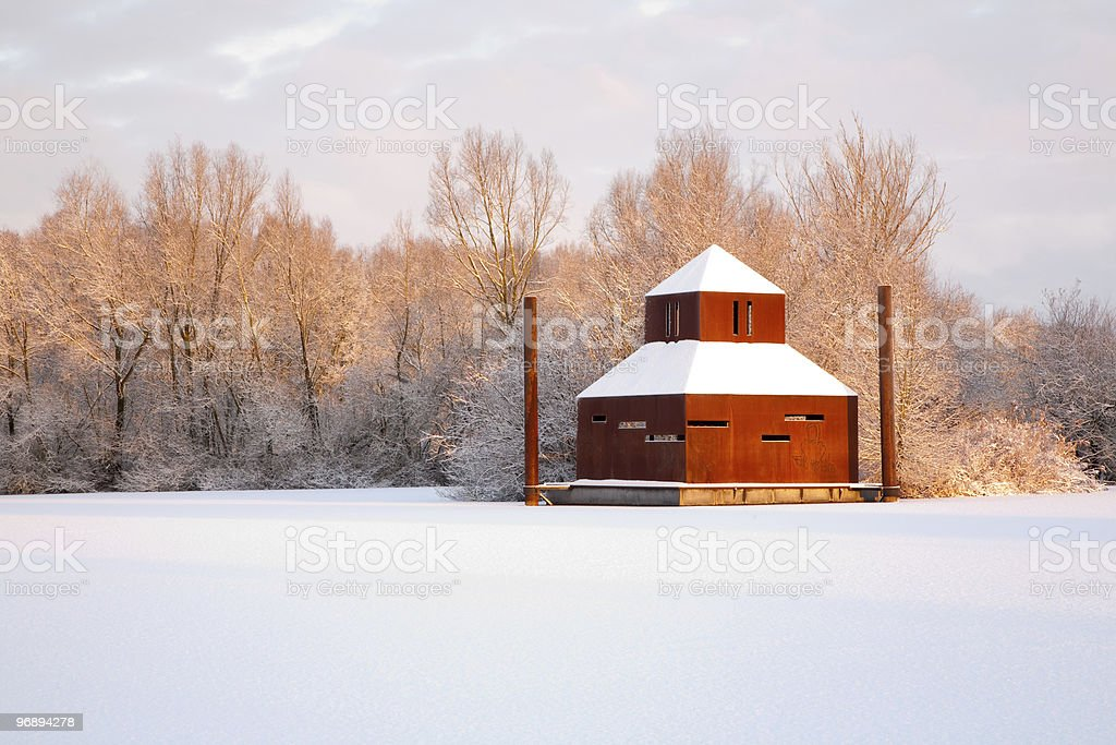 Early morning Winter Scenic royalty-free stock photo