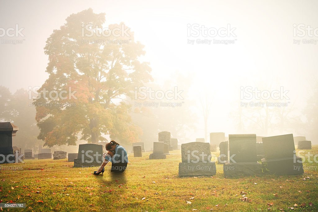 Early Mourning stock photo