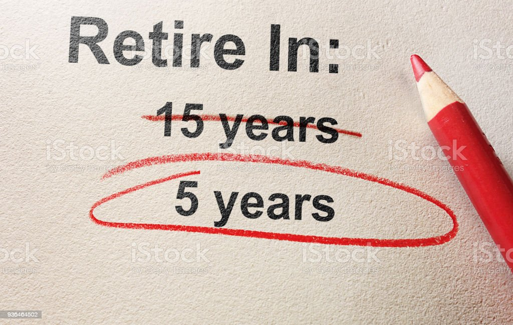 Early retirement concept stock photo