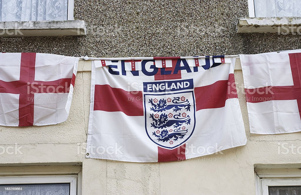 Flags of St. George soccer World Cup for England! stock photo