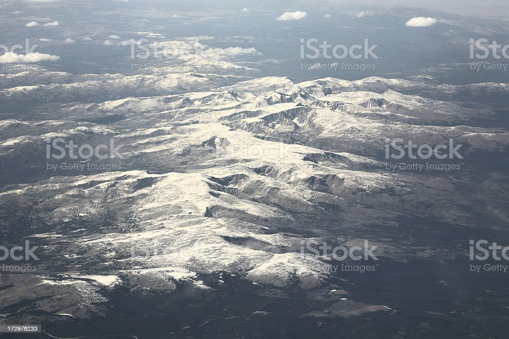 Early Snow in Wyoming stock photo