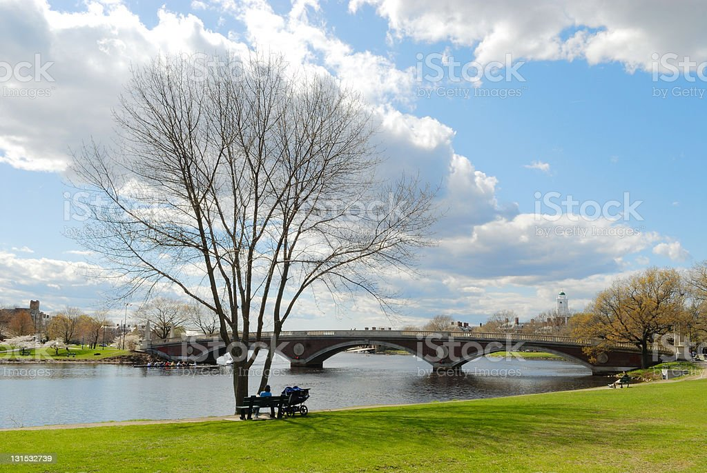Early spring in Cambridge stock photo