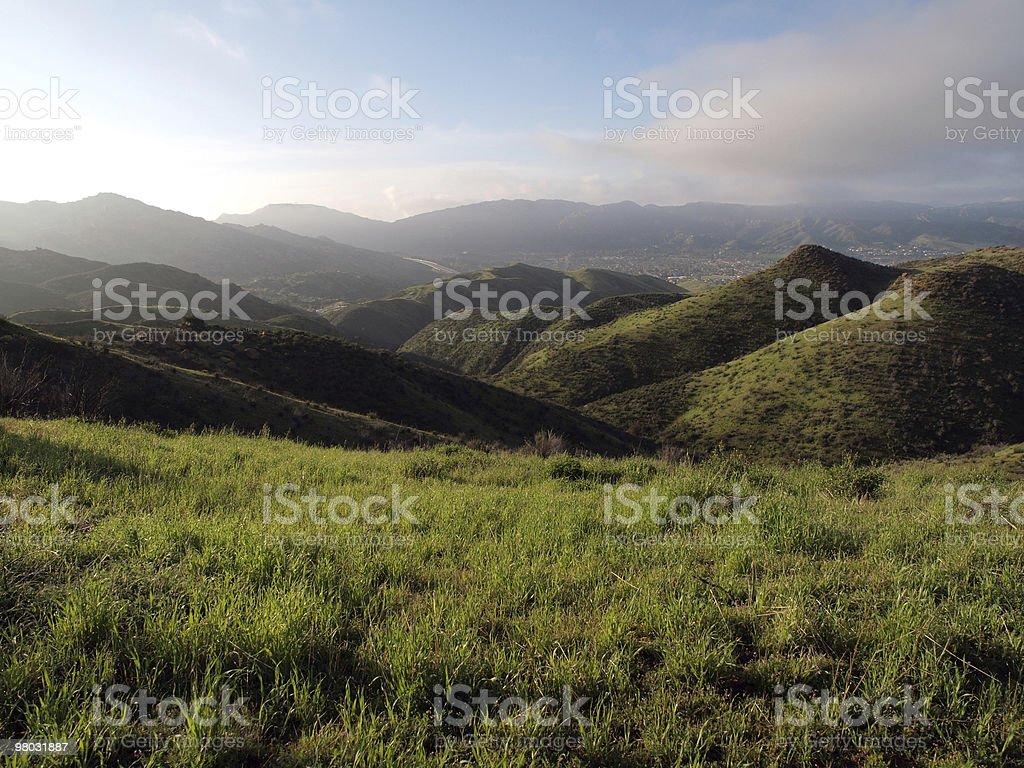 Early spring morning in California  royalty-free stock photo