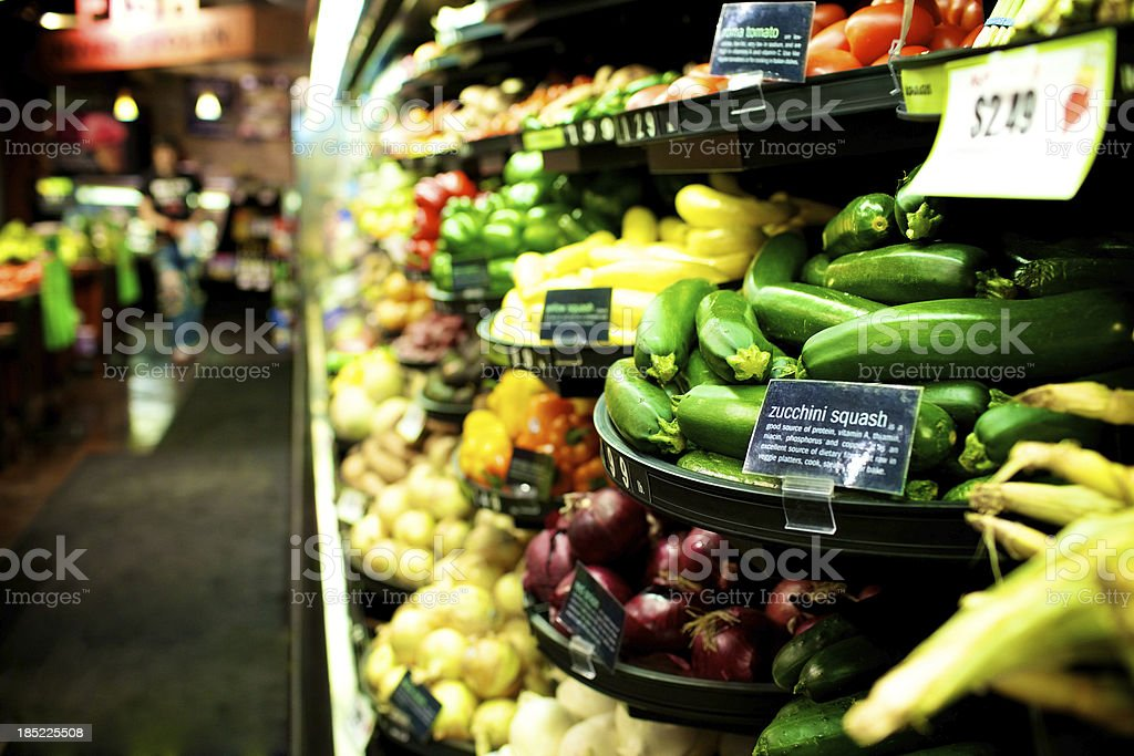 early spring vegetable market royalty-free stock photo