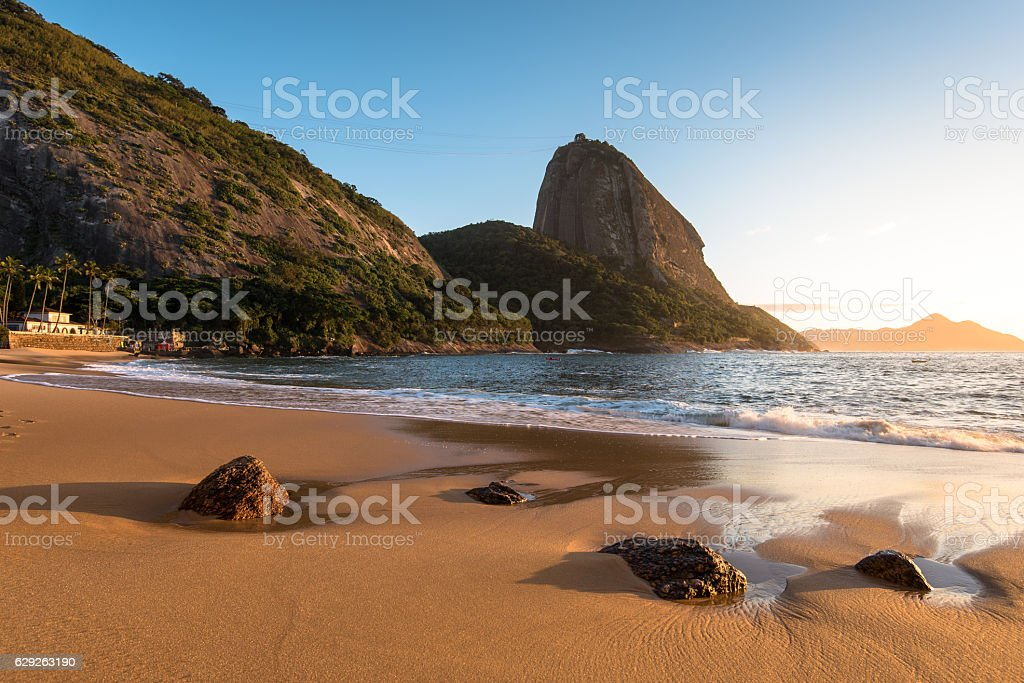 Early Sunrise in the Beach stock photo