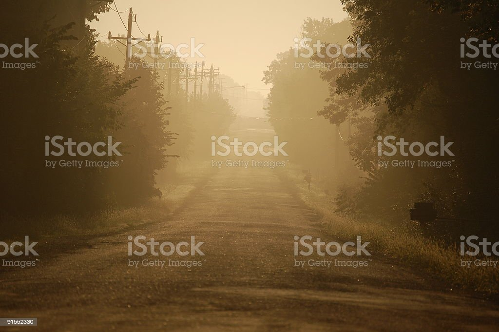 Early Sunrise Road royalty-free stock photo