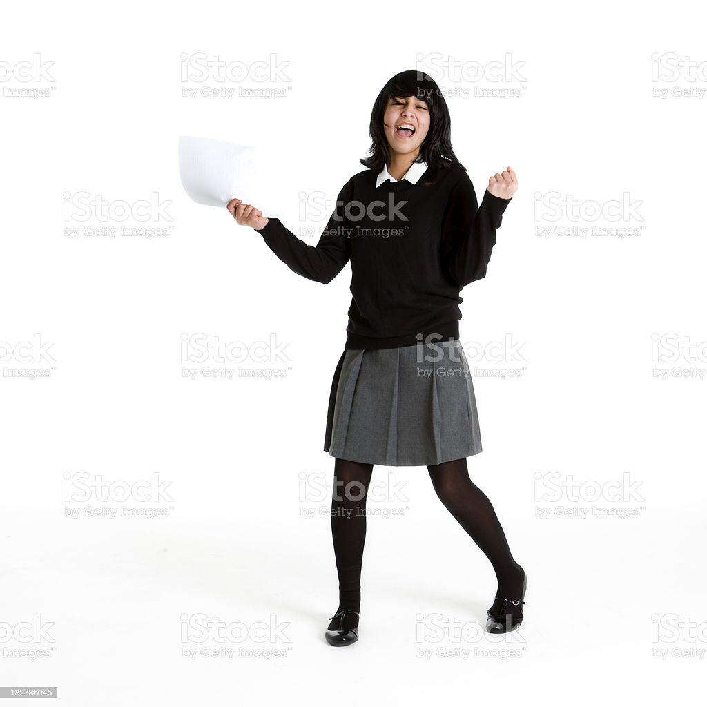 early teen students: exam success royalty-free stock photo