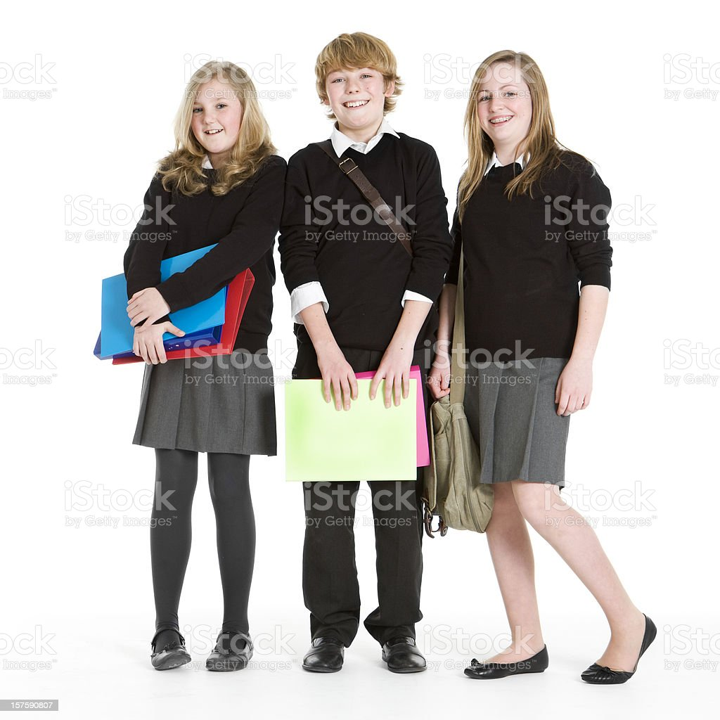 early teen students: friends together royalty-free stock photo