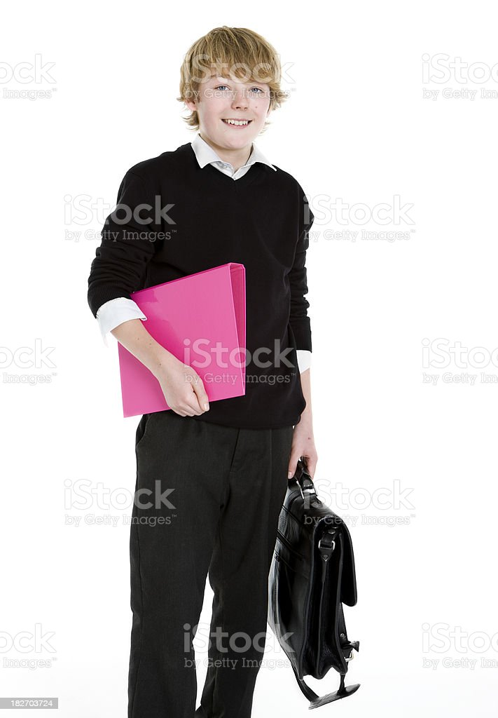 early teen students: school boy royalty-free stock photo