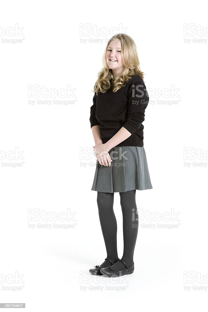 early teen students: school girl royalty-free stock photo