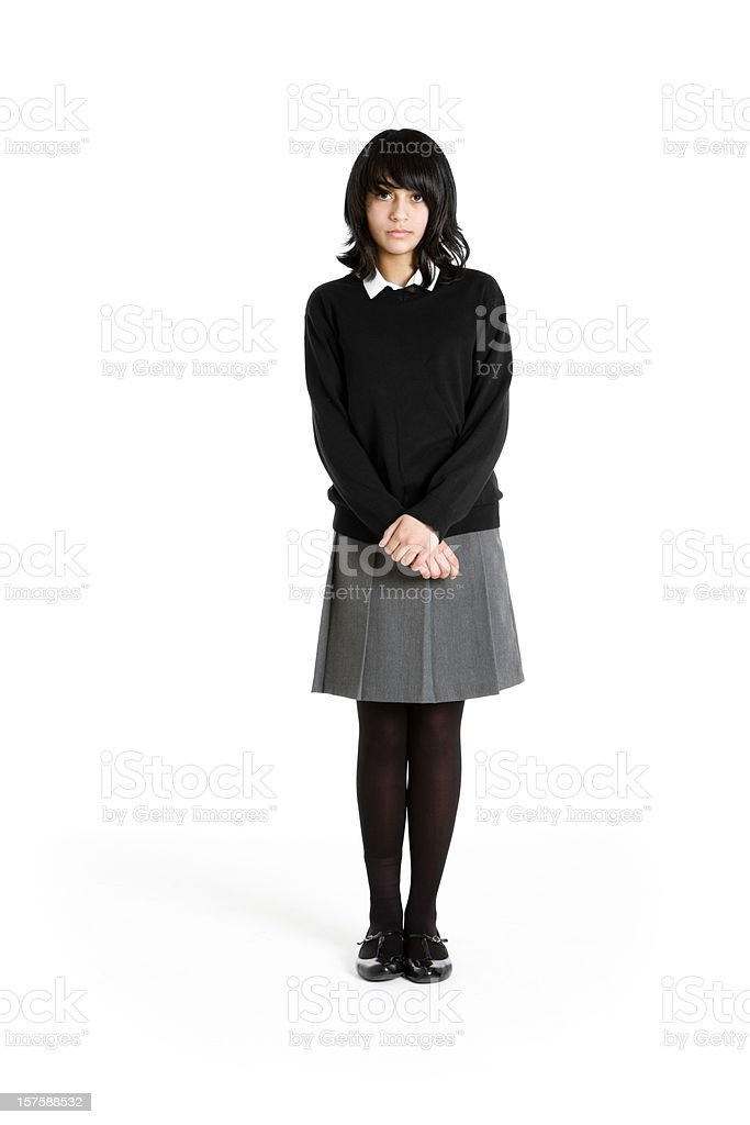 early teen students: shy student royalty-free stock photo