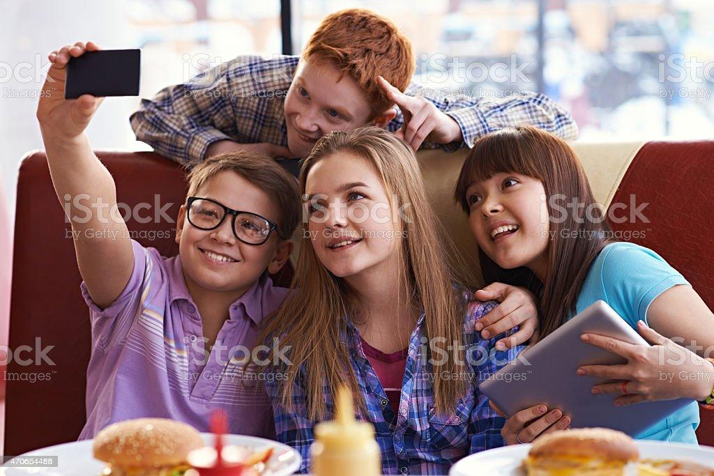 Early teens fun stock photo