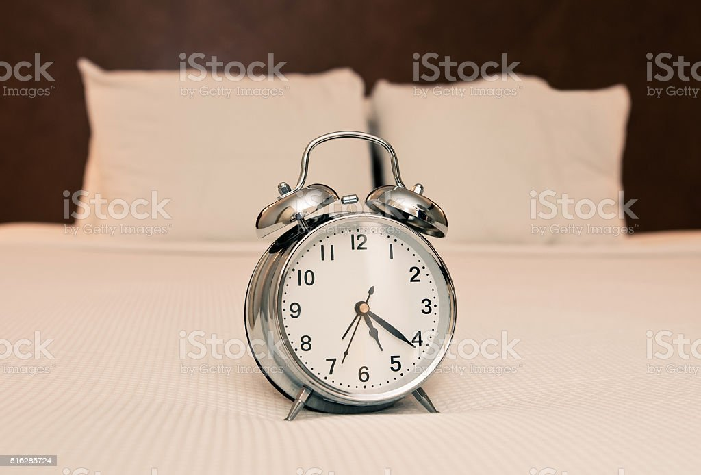 Early wake up call stock photo