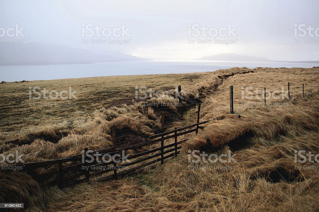 early winter landscape in Iceland stock photo
