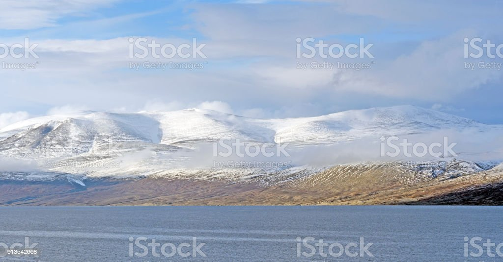 Early Winter Snow in the High Arctic stock photo
