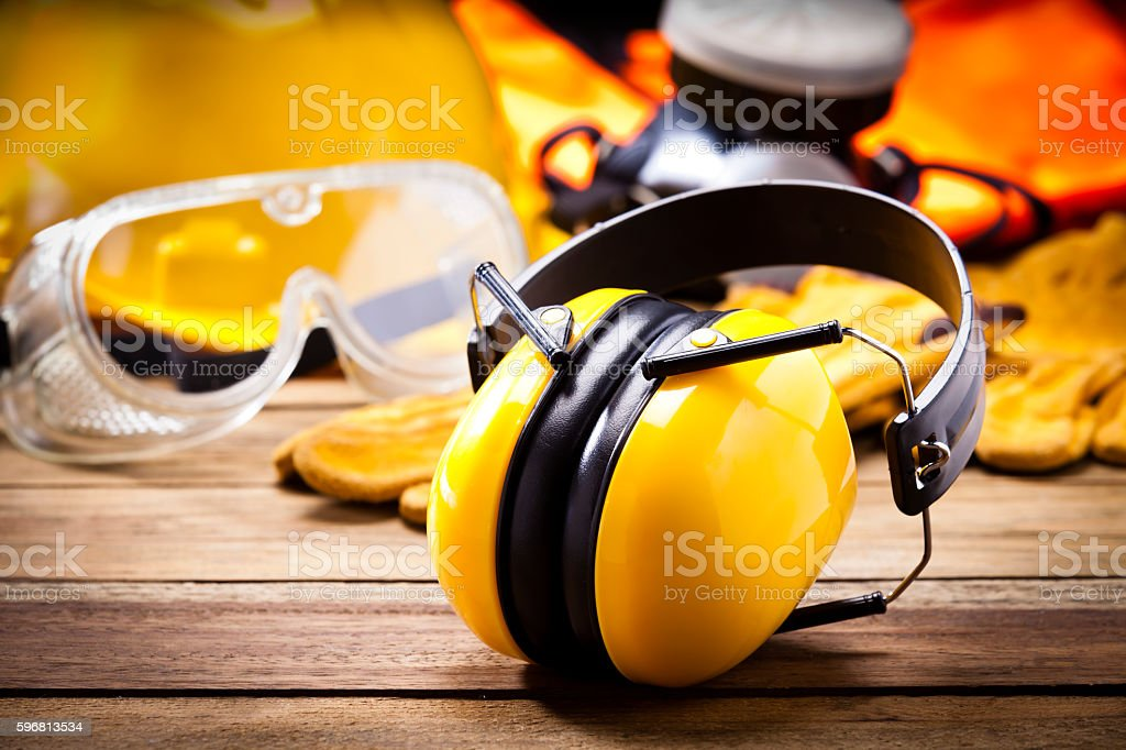 Earmuffs stock photo