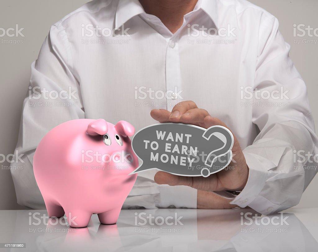 Earn Money stock photo