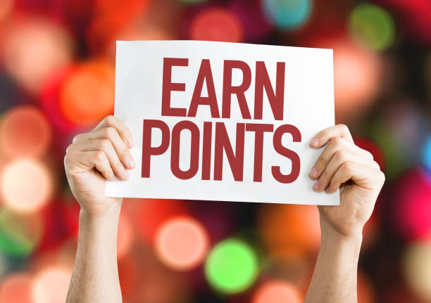 Earn Points stock photo