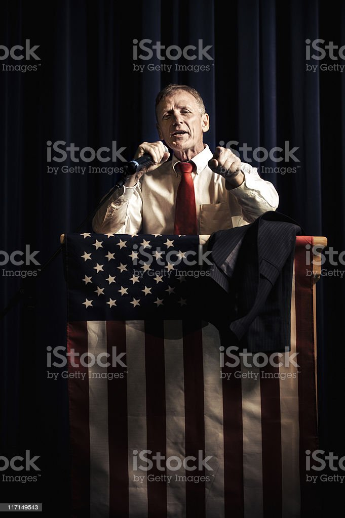 Earnest Politician stock photo