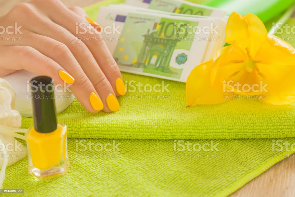 Earning Money Or Spending For Beauty Services Cares About Hands ...