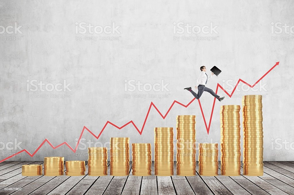 Earning money, prosperity stock photo
