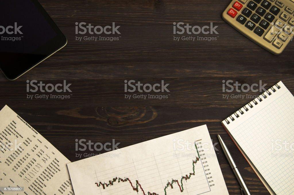 從在股票交易所交易的收益 免版稅 stock photo