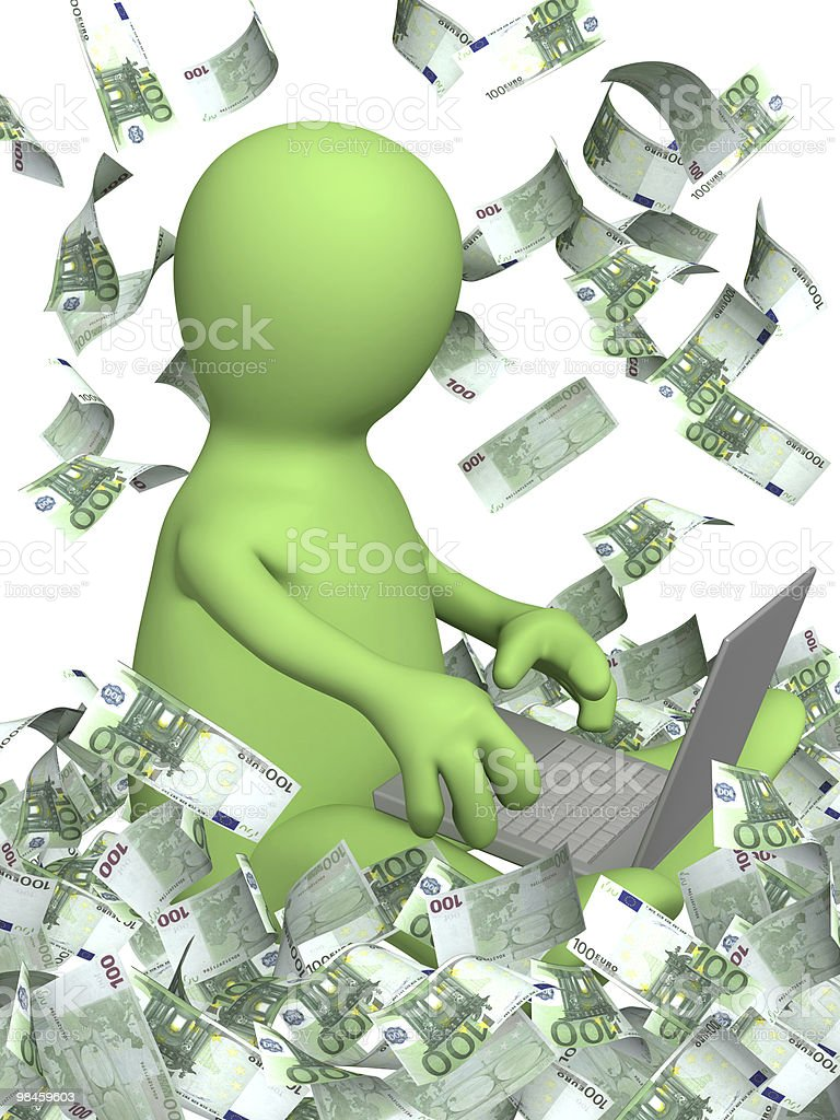 Earnings in the Internet royalty-free stock photo
