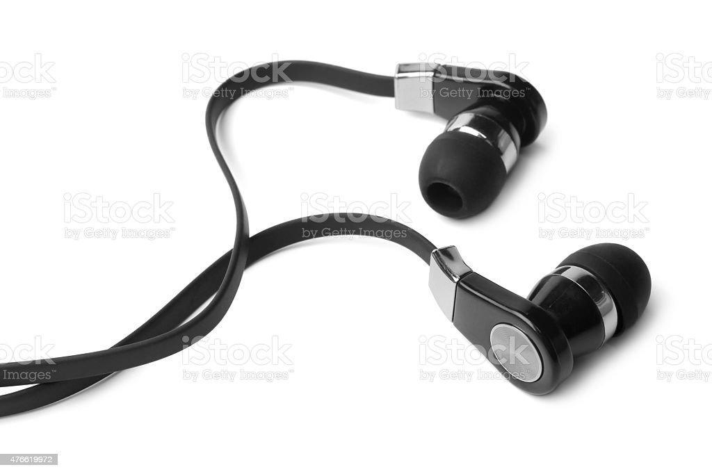 Earphones stock photo