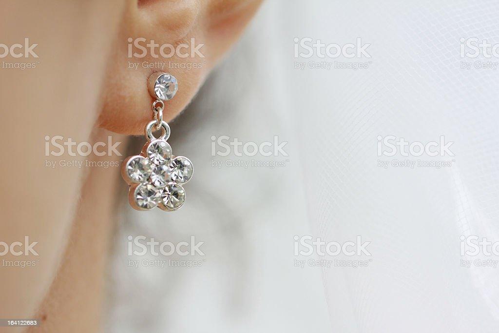 Earring royalty-free stock photo