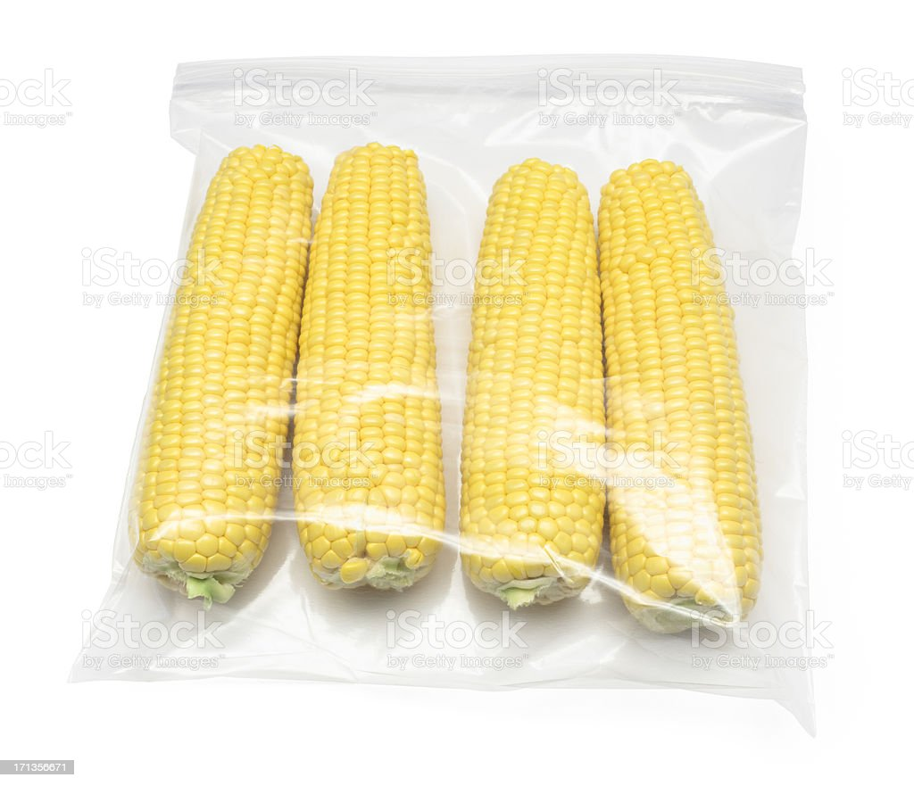 Ears of Sweetcorn (path) stock photo
