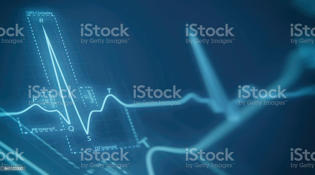 eart beats cardiogram stock photo