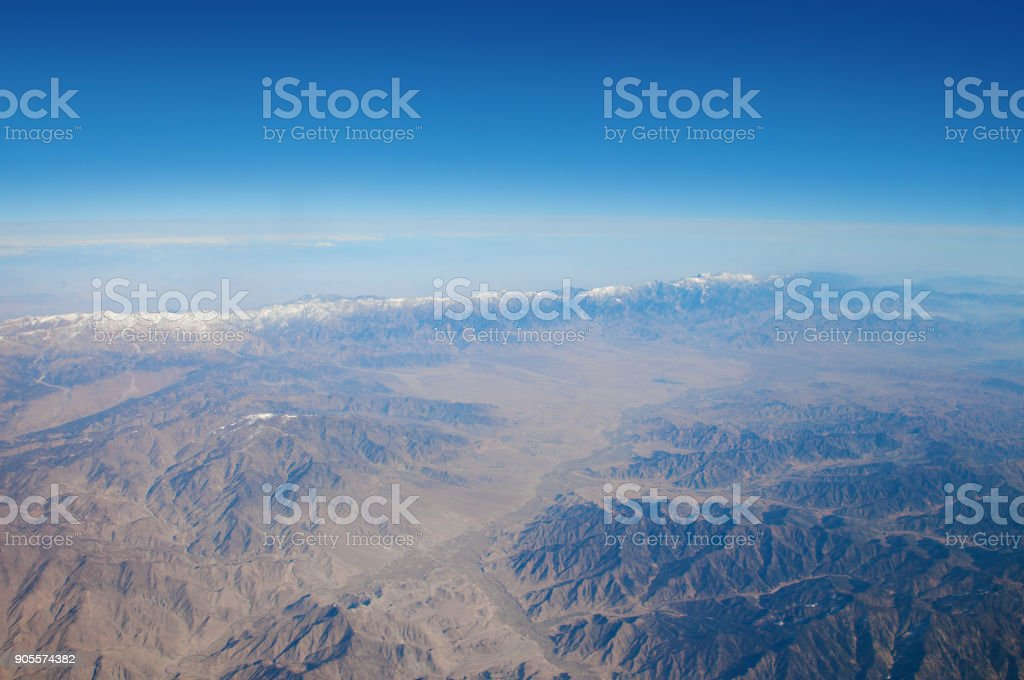 Earth Airplane View stock photo