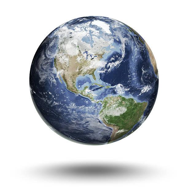 Welt-Amerika westlichen Hemisphäre – Foto