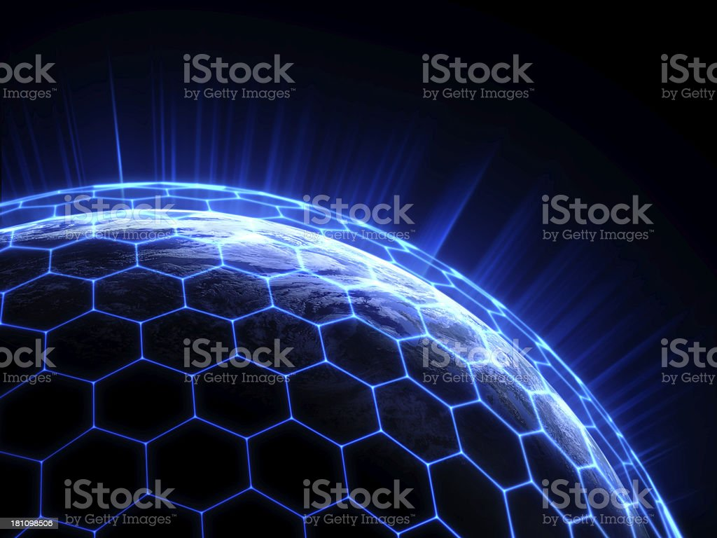 earth and internet stock photo