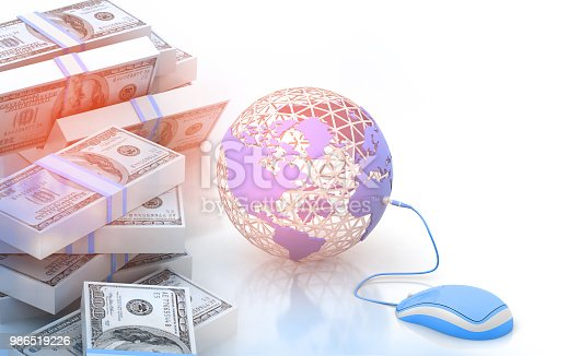 istock Earth and mouse with dollar 986519226