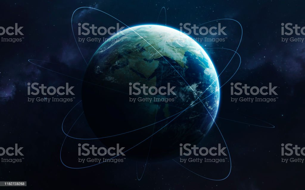 Earth And Network Visualisation Science Fiction Space