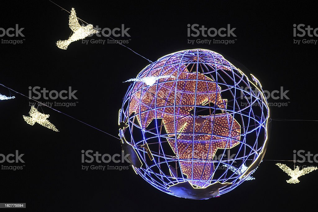 Earth and Pigeon - XLarge royalty-free stock photo