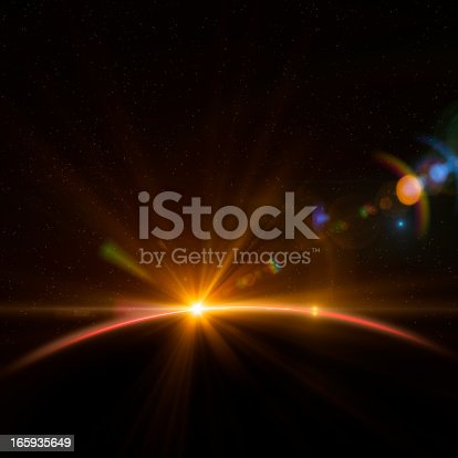 istock Earth and Rising Sun 165935649
