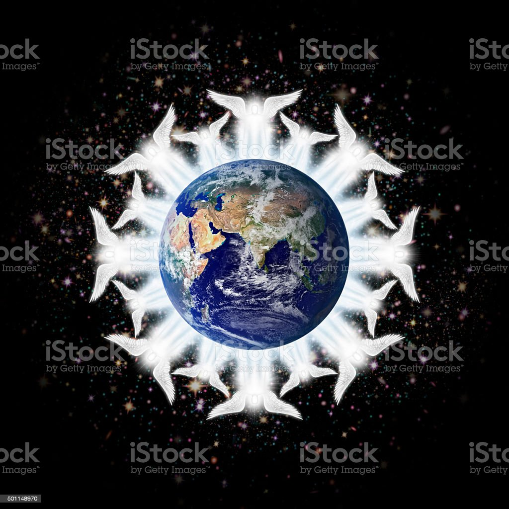 Earth Angels stock photo