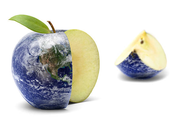 Earth Apple stock photo