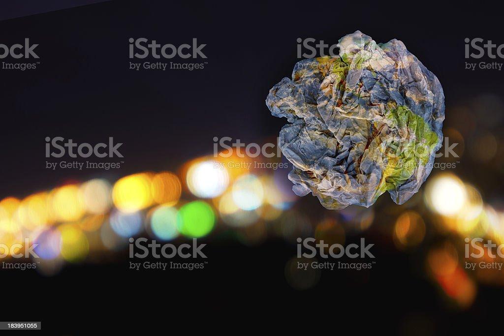 Earth as Trash royalty-free stock photo