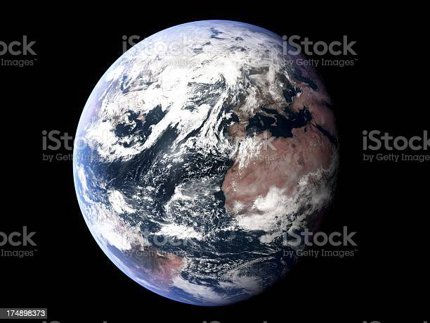 Earth Atlantic Prominent Stock Photo - Download Image Now