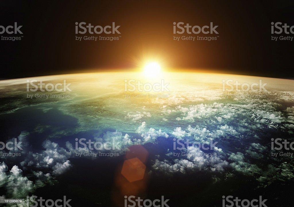 Earth - Beautiful Horizons royalty-free stock photo
