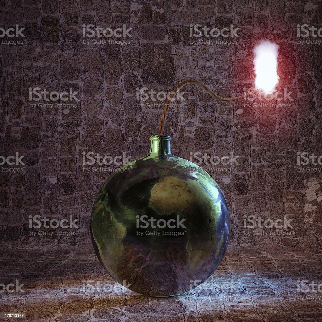 Earth bomb royalty-free stock photo