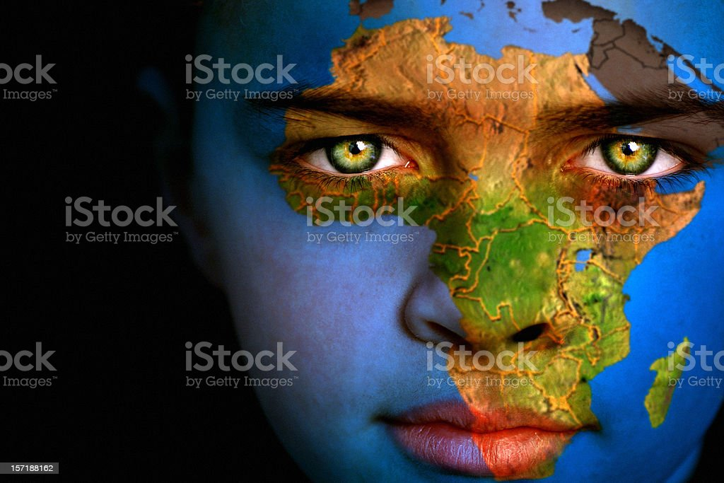 Earth boy - Africa stock photo