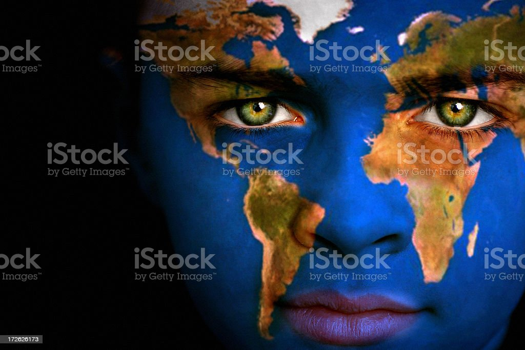 Earth boy stock photo