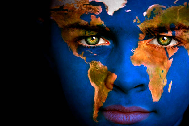 earth boy - continent geographic area stock photos and pictures